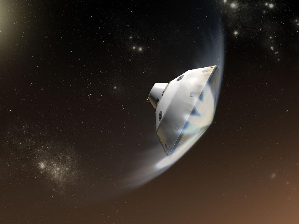 Artist view of the MSL atmospheric entry